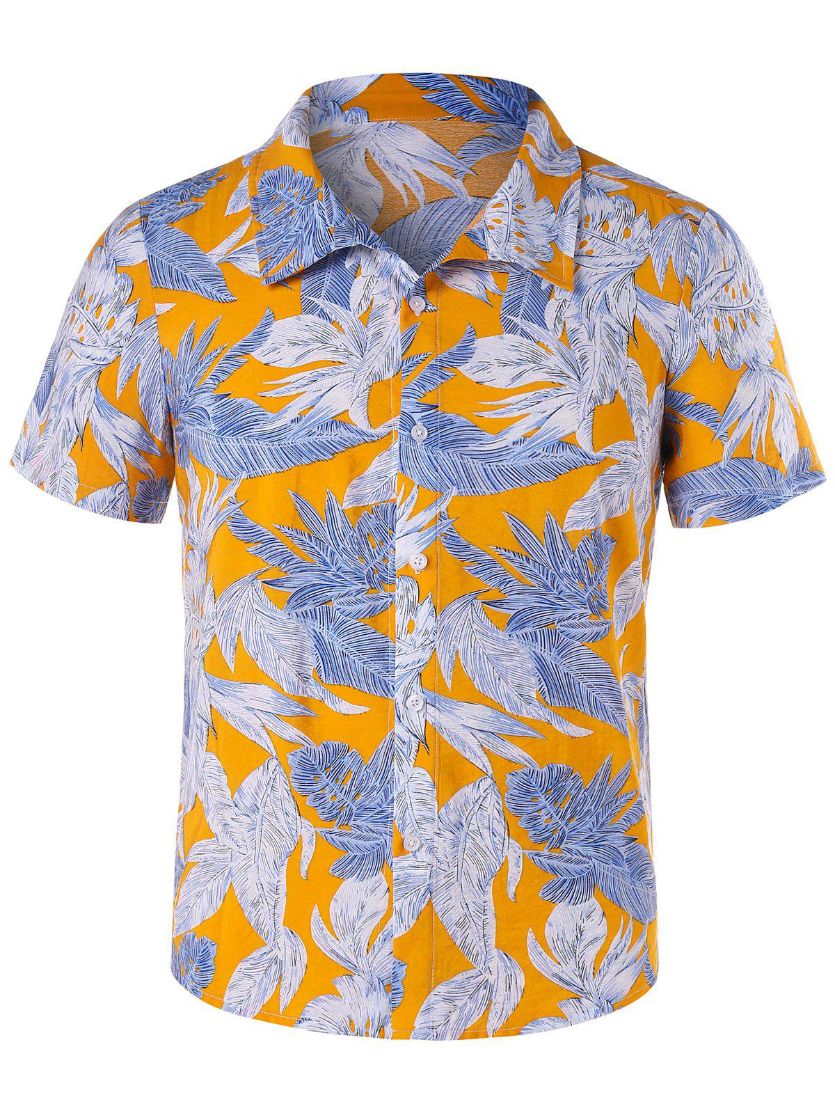 New Short Sleeve Button Up Floral Hawaii Shirt