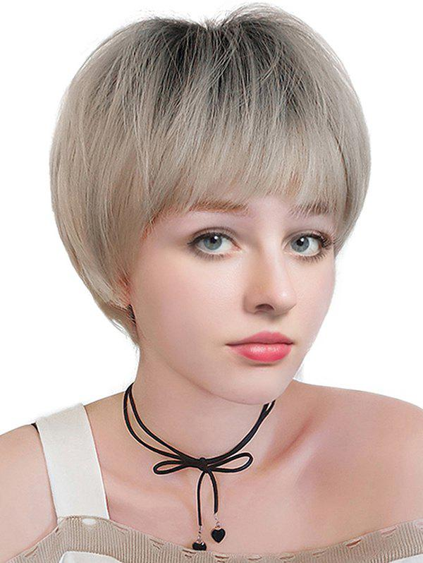 Shops Short Full Bang Colormix Straight Synthetic Wig
