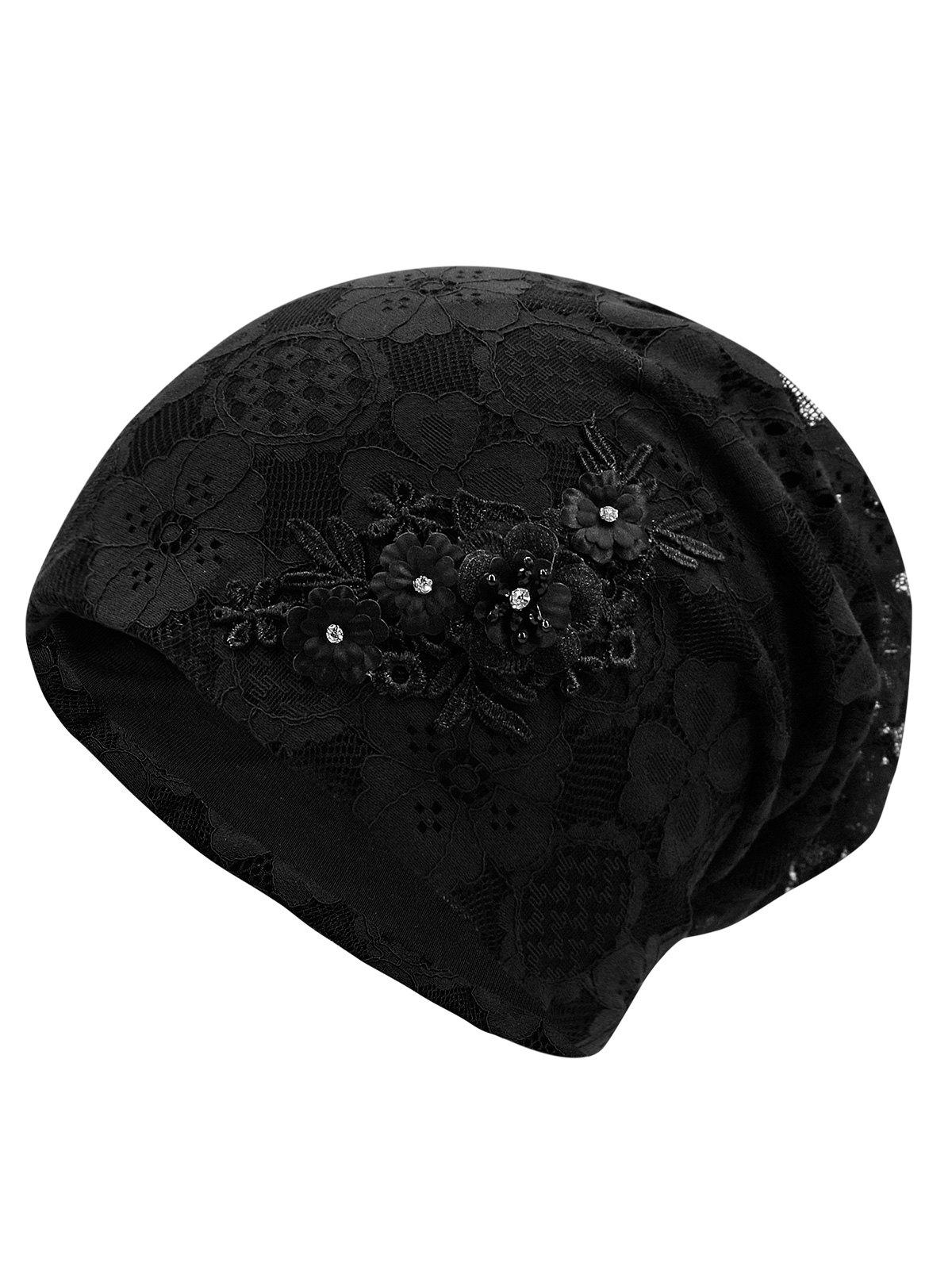 Store Unique Blooming Flowers Lace Beanie