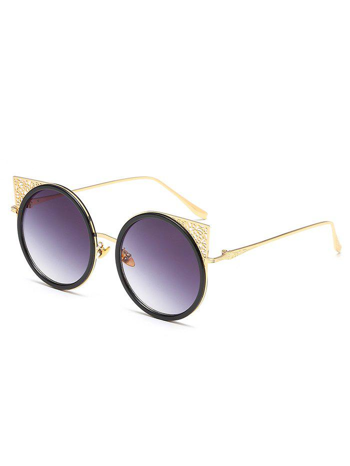 Fancy Anti UV Hollow Out Metal Full Frame Circle Sunglasses