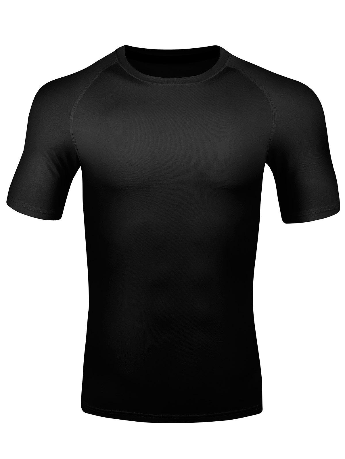 Sale Short Sleeve Quick Dry Stretchy Fitness T-shirt