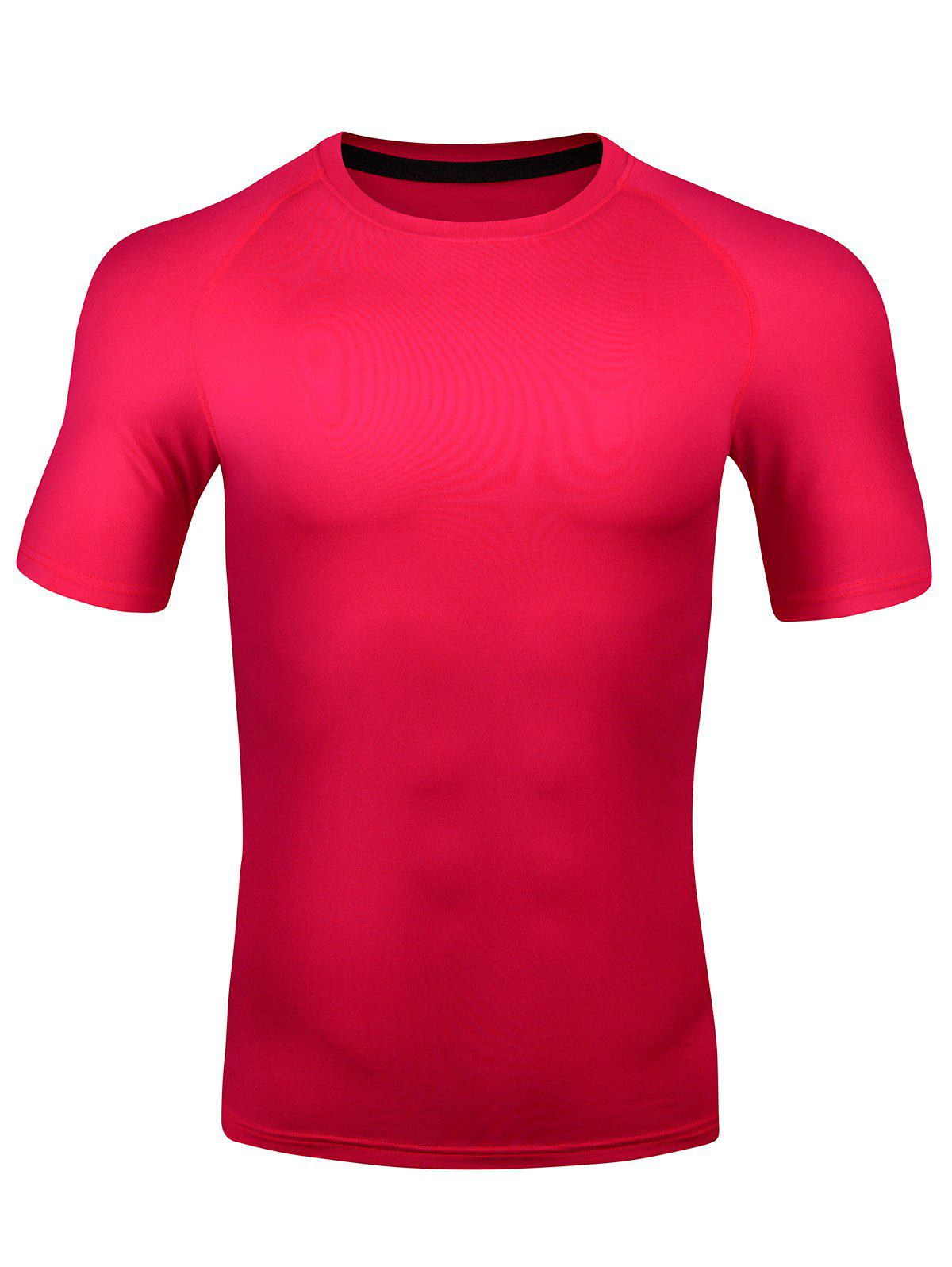 Fancy Short Sleeve Quick Dry Stretchy Fitness T-shirt