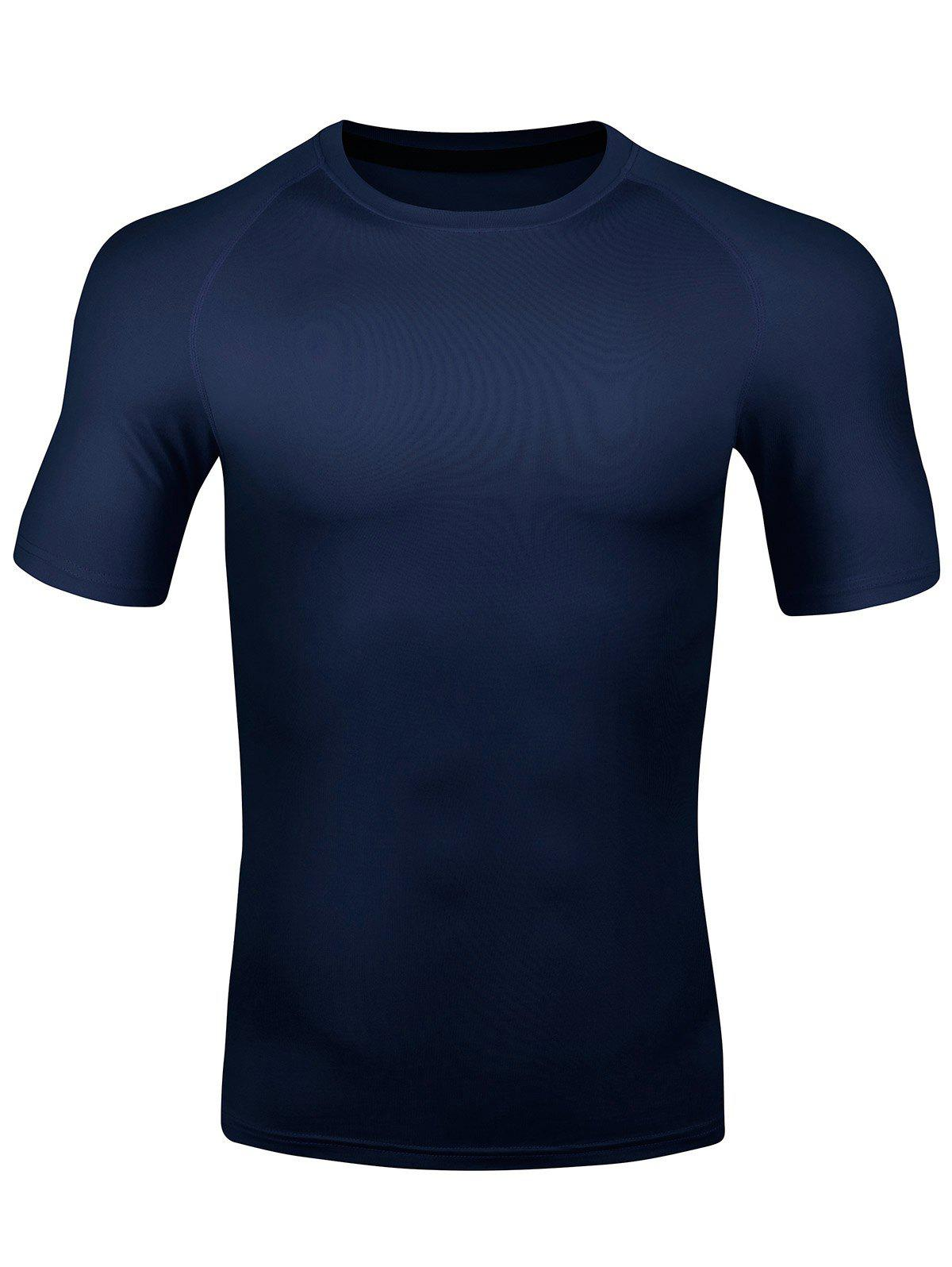 Online Short Sleeve Quick Dry Stretchy Fitness T-shirt