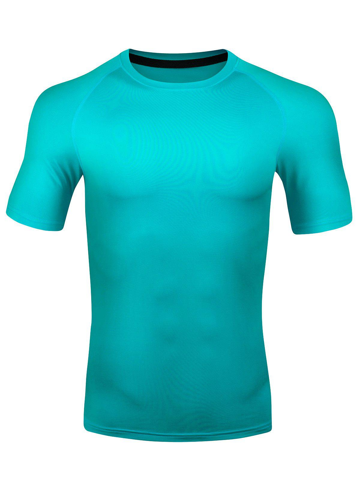 Unique Short Sleeve Quick Dry Stretchy Fitness T-shirt