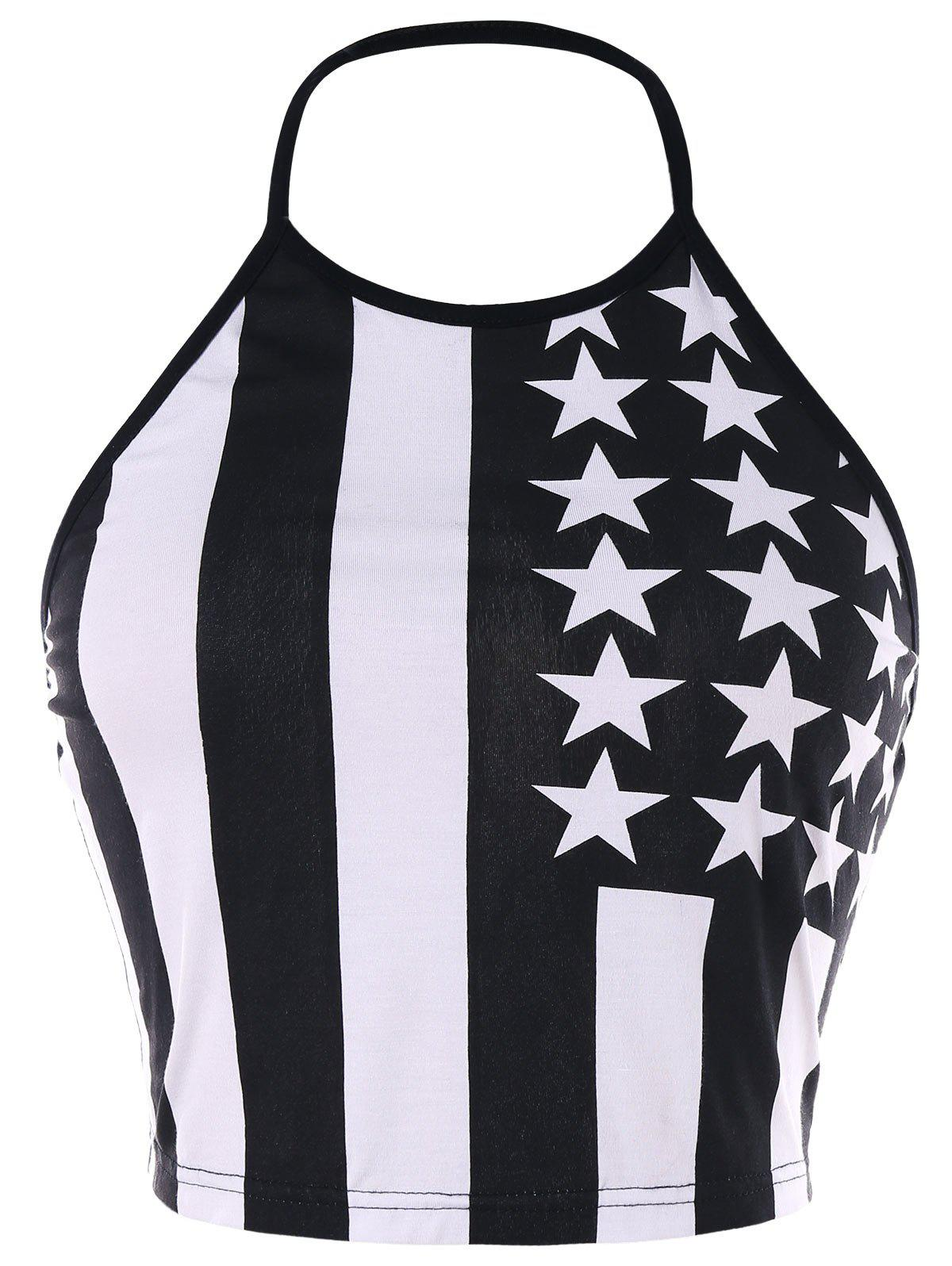 Cheap American Patriotic Halter Tank Top