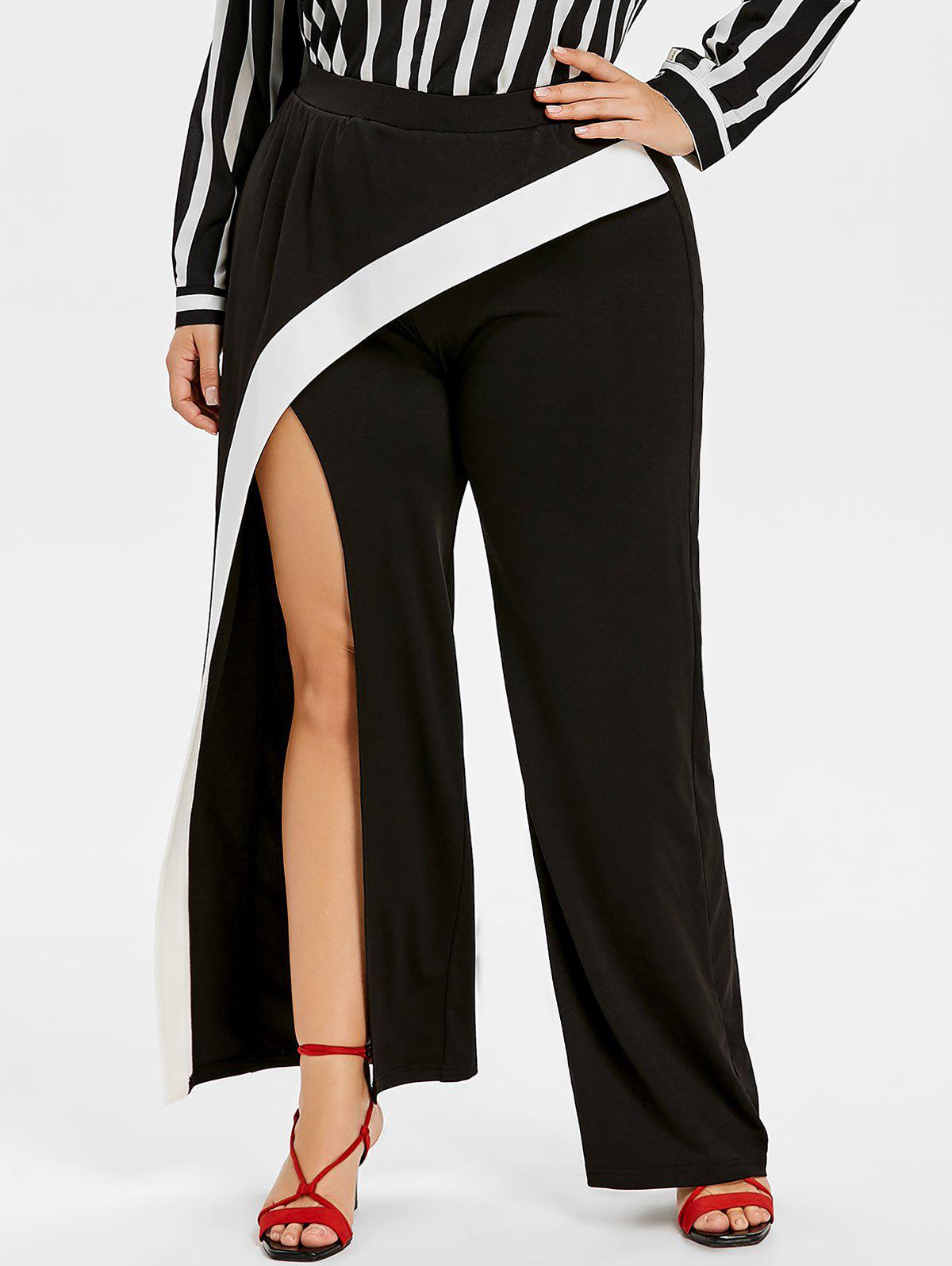 Shop Plus Size Asymmetric Split Wrap Pants