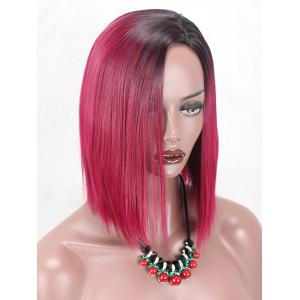 Short Side Parting Gradient Straight Synthetic Cosplay Wig -