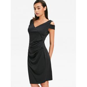 V Neck Draped Dress -