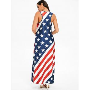 American Flag Racerback Maxi Dress -