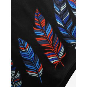 Plus Size Feather High Low Dress -