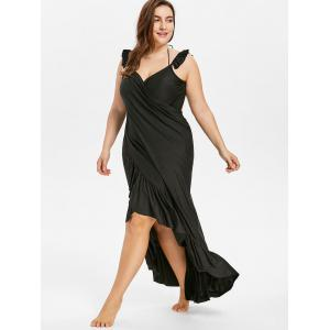 Plus Size Long Wrap Cover Up Dress -