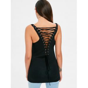 Criss Cross Back Fitted Tank Top -