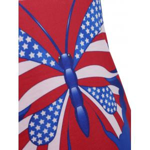 American Flag Patriotic Lace-up Tank Top -