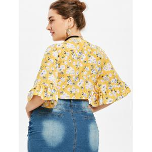 Chemisier Floral  Col Plongeant Grande Taille -