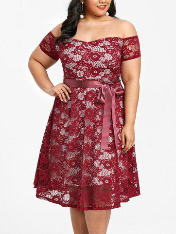 Latest Plus Size Off The Shoulder Lace Party Dress