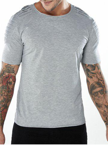 Best Short Sleeve Plated Shoulder Tee Shirt