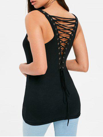 Sale Criss Cross Back Fitted Tank Top