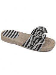 Casual Outdoor Vacation Color Block Striped Slides -