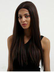 Long Free Part Highlighted Straight Synthetic Lace Front Wig -
