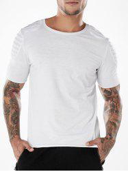 Short Sleeve Plated Shoulder Tee Shirt -