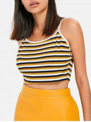 Stripes Jersey Cropped Camis -