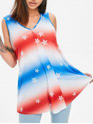 Draped Star Ombre Tank Top -
