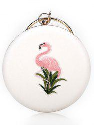 Round Shaped Chic Flamingo Handbag with Chain -