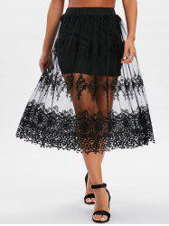 Mesh Crochet See Thru Skirt -