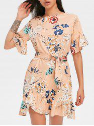 Casual Floral Print Dress -