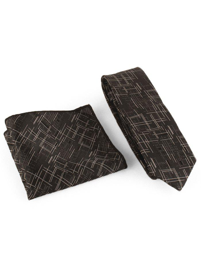 Chic Cross Stripe Pattern Business Tie and Handkerchief