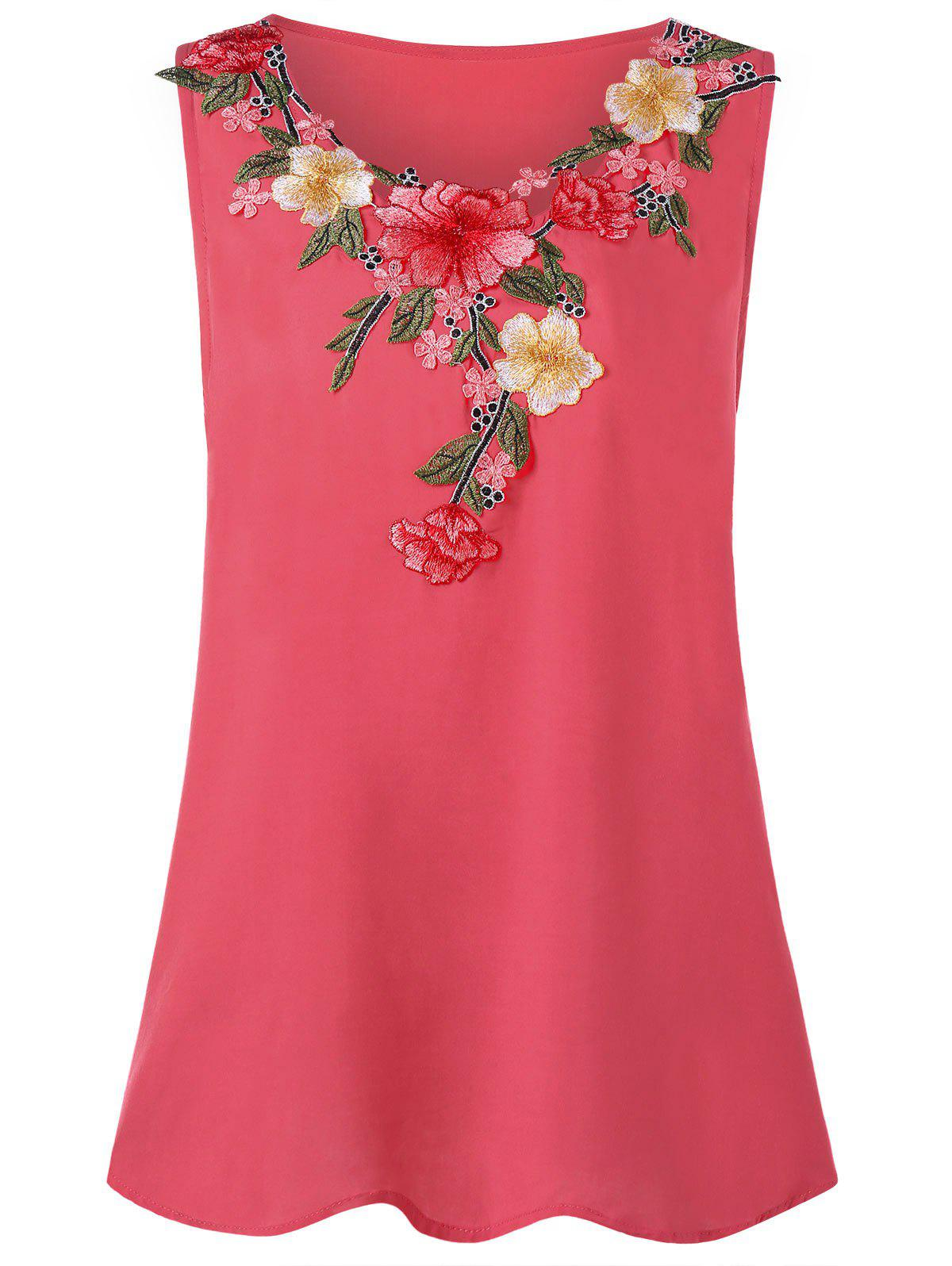 Best Plus Size Embroidery Tank Top