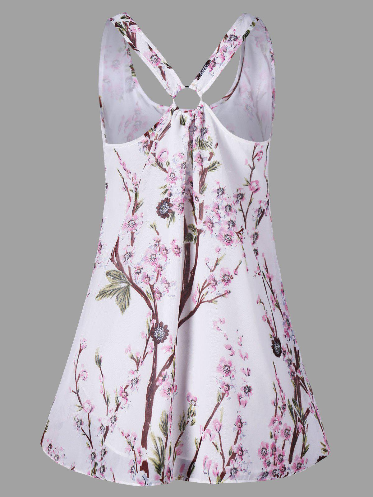 Outfit Floral Racerback Trapeze Tank Top