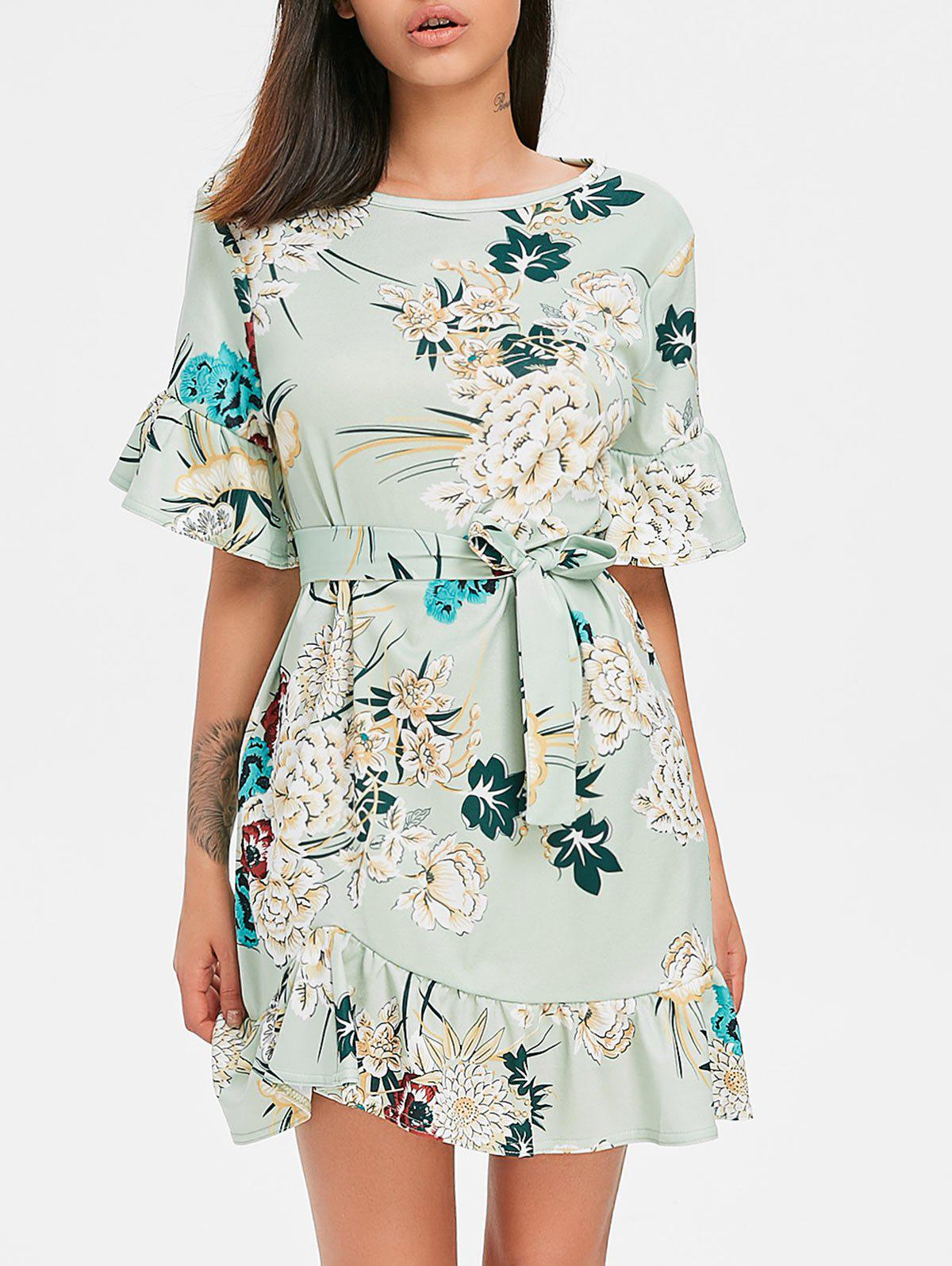 Fancy Casual Floral Print Dress