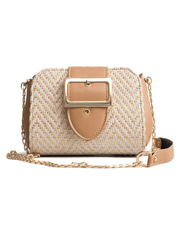 Store Straw Square Buckled Leisure Crossbody Bag