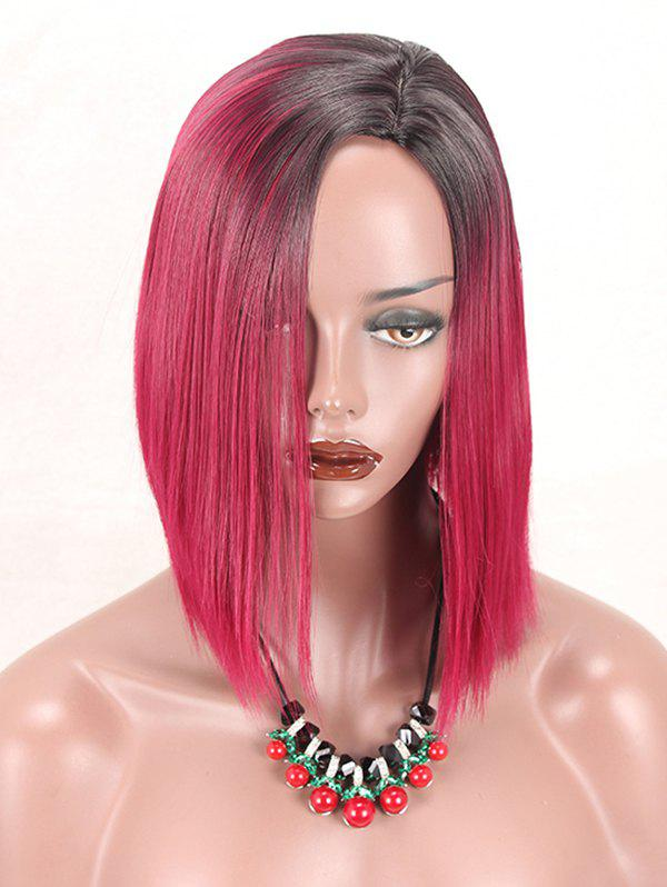 Store Short Side Parting Gradient Straight Synthetic Cosplay Wig