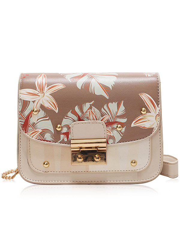 Fancy Floral Print Mini Chain Shoulder Bag