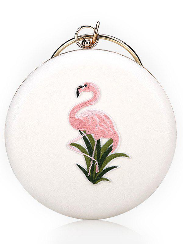 Outfits Round Shaped Chic Flamingo Handbag With Chain