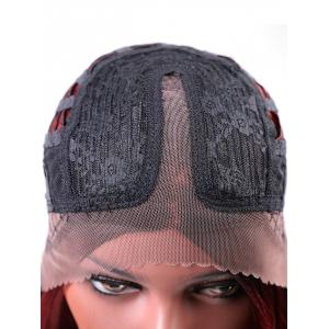 Center Parting Medium Gradient Straight Lace Front Synthetic Wig -