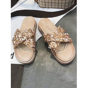 Sequins Chic Vacation Leisure Slippers -
