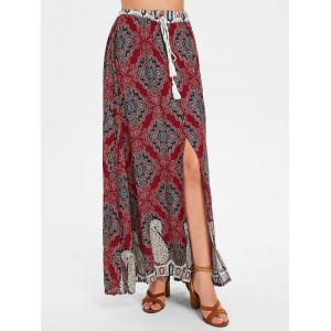 Long Bohemian Skirt with Slit -