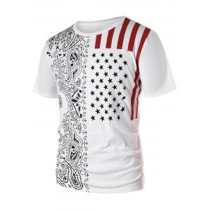Short Sleeve American Flag T-shirt -