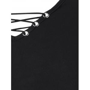 Lace Up Open Back T-shirt -