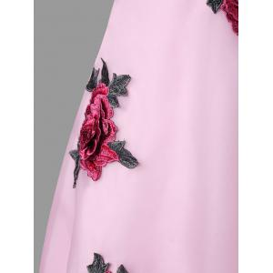 Off The Shouler Floral Embroidered Dress -