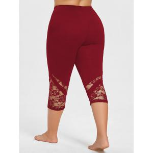 Lace Panel Plus Size Cropped Leggings -