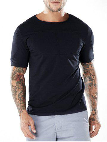 Chic Slim Pectoral Muscles Pad Decorated T-shirt