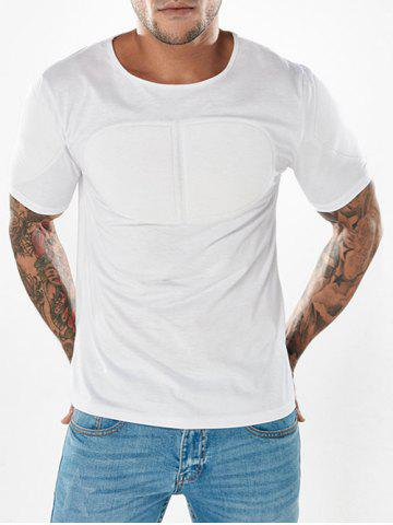 Shops Slim Pectoral Muscles Pad Decorated T-shirt