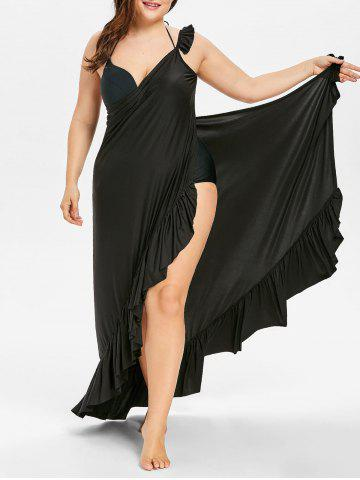 Cheap Plus Size Long Wrap Cover Up Dress