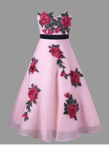 Store Off The Shouler Floral Embroidered Dress