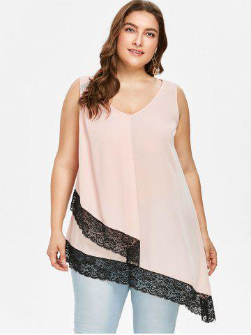 Plus Size V Neck Asymmetric Tank Top