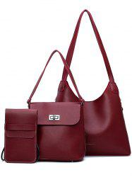 Leisure Vacation 4 Pieces Shoulder Bag Set -